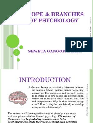 Scope & Branches of Psychology | Psychology & Cognitive