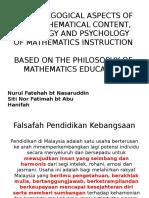 Falsafah dan Matlamat Kurikulum Matematik