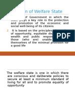 Welfare State Definition
