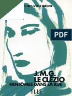 Fantômes Dans La Rue - J.M.G Le Clézio - HFA 2000 - MG45