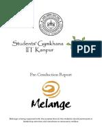Melange Pre-Conduction Report