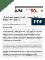 ¿Son Idénticos El Texto Mayoritario y El Texto Original_ _ Bible