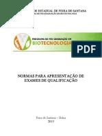 Ppgbiotec Normas e Modelo Para Exame de Qualificacao