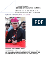 an unusual bishop interviewed in cuba