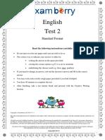 Examberry English Paper 2