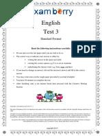 Examberry English Paper 3