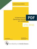 Informe 2015 sobre Vulneraciones de Derechos Humanos en Andalucía
