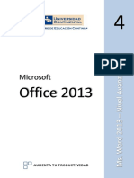 4. MS WORD - Avanzado