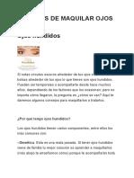 Tecnicas de Maquillaje Ojos Hundidos