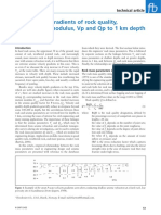 2007. Barton Near SurfaceGradientsRockQualityDeformationModulus VpQp1KmDepthFirstBreak
