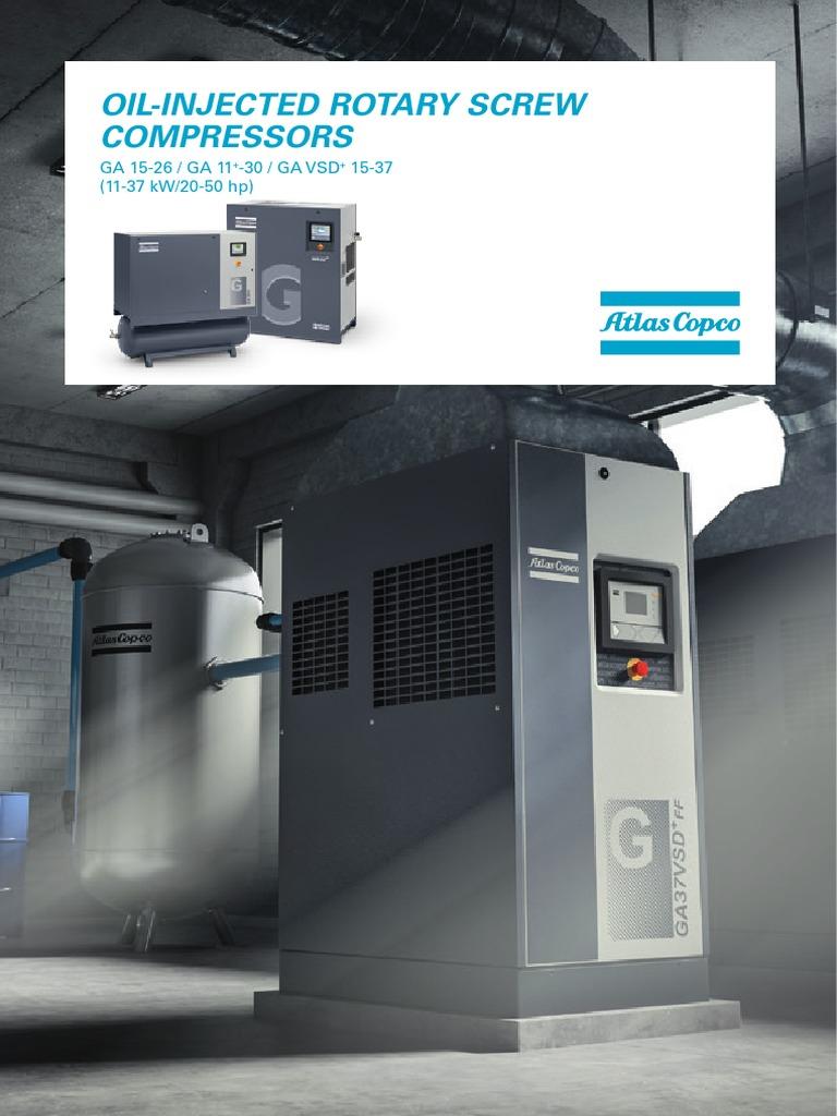 ga 15 26 11 30 ga vsd 15 37 nuevo folleto 2015 gas compressor rh scribd com