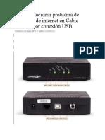 Como Solucionar Problema de Conexión de Internet en Cable Modem Por Conexión USB