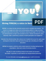 EdYOU! Summit May 14 - Info package and form