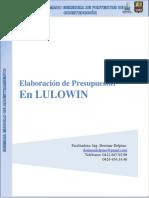 Elaboración de Presupuestos en LULOWIN - Diplomado SISMICA