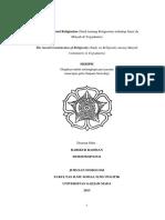 Konstruksi Sosial Religiusitas Studi Jam