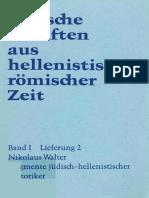 1-2 (1976, N. Walter) Frag. Jüdisch-hellenistischer Historiker.