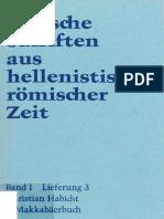 1-3 (1976, C. Habicht) 2. Makkabäerbuch.