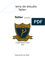 Formato Programa de Estudio Taller 2016