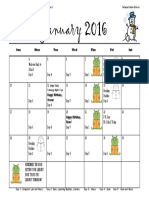 january calendar 2016