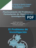 Planteamiento Del Problema y Formulacion de Objetivos en Investigacion