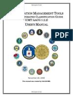 CIA ClassificationManagementTools