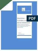 Diirectrices Custodia y Control de Las Instalaciones Conservación