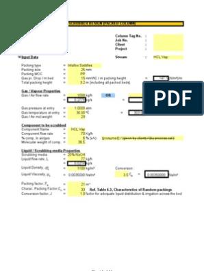 scrubber design   Mole (Unit)   Flow Measurement