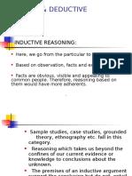 Inductive & Deductive Reasoning
