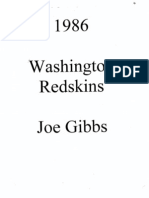 1986 Redskins - Joe Gibbs