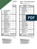 Kartu PHBS PKM halmahera