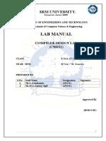 CS0312 Compiler LAB MANUALedited