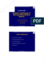 L 02 Analysis and Design of One Way Slab System Sep 2015