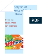 chemistry investigatory project- cold drinks