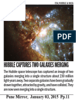 Hubble Captures Two Galaxies Merging
