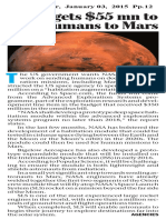 NASA gets $55 mn to send human to Mars