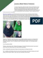Tips Mudah Menggunakan Jilbab Modern Pashmina