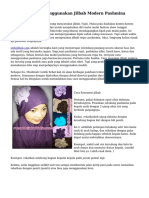 Cara Gampang Menggunakan Jilbab Modern Pashmina