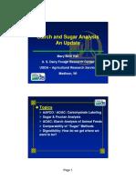 Starch & Sugar Analysis an Update