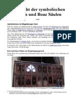 Übersicht der symbolischen Jachin und Boaz Säulen