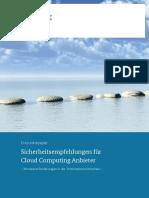 Eckpunktepapier Sicherheitsempfehlungen CloudComputing Anbieter