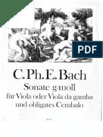 Sonata in Sol Min Per Viola o Vla Da Gamba_parte e Partitura
