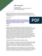 Behavioural Public Economics