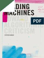 Reading Machines Algorithmic Criticism Digital Humanities 2011