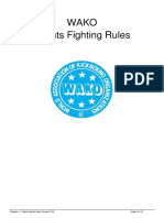 WAKO Point Fighting Rules