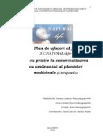 Plan Managerial Privind Infiiarea Si Dezvoltarea Unei Afaceri in Domeniul Comerului Cu Amanuntul a Produselor Medicinale Si Terapeutice de Tip Plafar