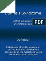 Duane's Syndrome - Ballard