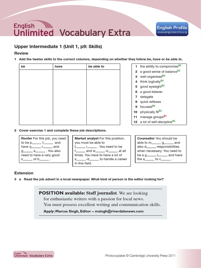 A08105-53990901 EU B2 Vocabulary Extra EB | Placebo | Crimes