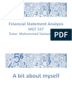 Introduction to Financial Statements and Ratio Analysis