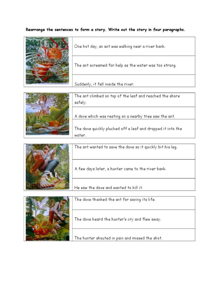 Rearrange the Sentences to Form a Story