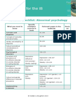 Revision Checklist Abnormal Psychology